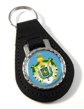Imperio do Brasil Leather Key Fob