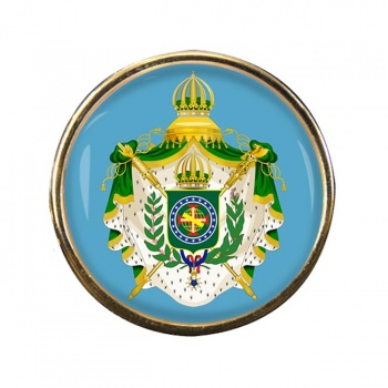 Imperio do Brasil Round Pin Badge