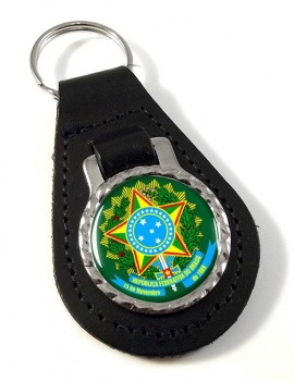 Brazil Brasil Leather Key Fob