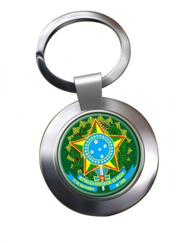 Brazil Brasil Metal Key Ring