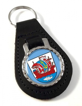 Bremerhaven (Germany) Leather Key Fob