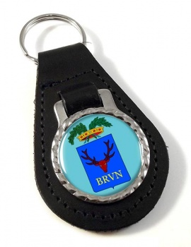 Brindisi (Italy) Leather Key Fob
