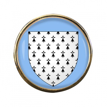 Bretagne Brittany (France) Round Pin Badge