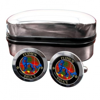 Bruce Scottish Clan Round Cufflinks