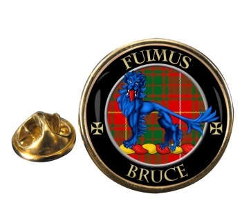Bruce Scottish Clan Round Pin Badge