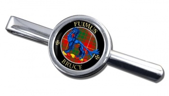 Bruce Scottish Clan Round Tie Clip