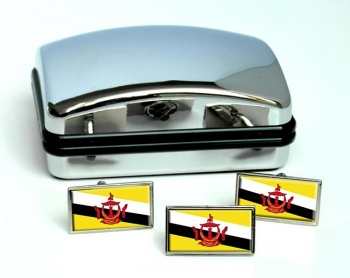 Brunei Flag Cufflink and Tie Pin Set