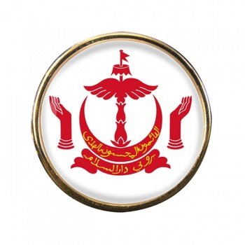 Brunei Round Pin Badge