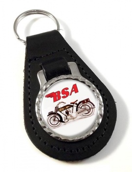 BSA Leather Keyfob