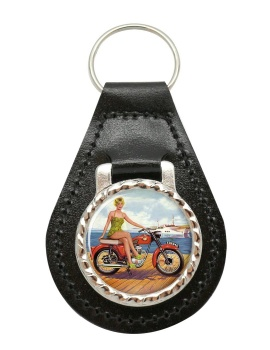 BSA Bantam Leather Keyfob