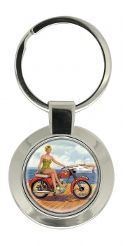 BSA Bantam Chrome Key Ring