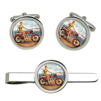 BSA Bantam Cufflink and Tie Clip Set