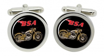 BSA Gold Flash Round Cufflinks