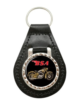 BSA Gold Flash Leather Keyfob