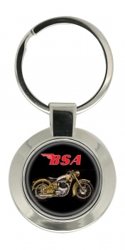 BSA Gold Flash Chrome Key Ring