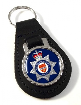 British Transport Police Leather Key Fob