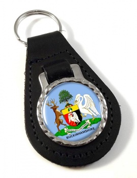 Buckinghamshire  (England) Leather Key Fob