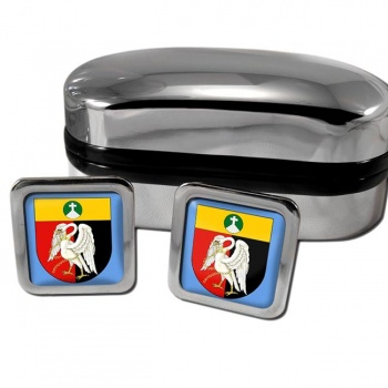 Buckinghamshire  England Square Cufflinks