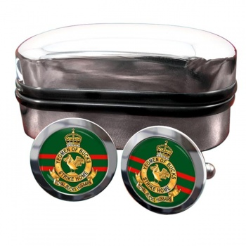 Royal Buckinghamshire Hussars (British Army) Round Cufflinks