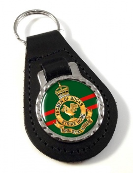 Royal Buckinghamshire Hussars (British Army) Leather Key Fob