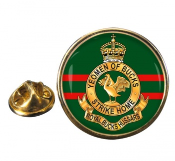 Royal Buckinghamshire Hussars (British Army) Round Pin Badge
