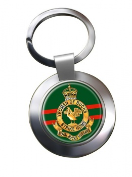 Royal Buckinghamshire Hussars (British Army) Chrome Key Ring