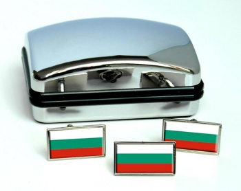 Bulgaria  Flag Cufflink and Tie Pin Set