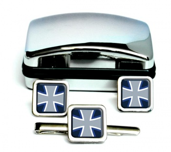 German Navy (Deutsche Marine) Square Cufflink and Tie Clip Set