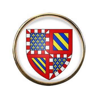 Bourgogne Burgundy (France) Round Pin Badge