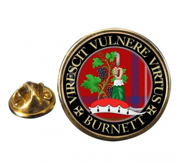 Burnett Scottish Clan Round Pin Badge