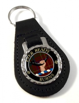 Burns Scottish Clan Leather Key Fob