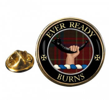 Burns Scottish Clan Round Pin Badge