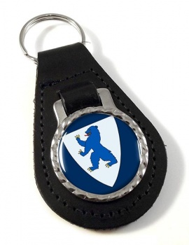 Buskerud (Norway) Leather Key Fob