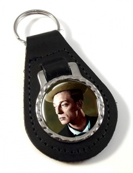 Buster Keaton Leather Key Fob