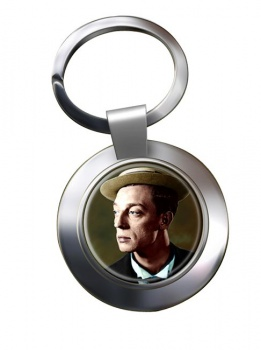 Buster Keaton Chrome Key Ring
