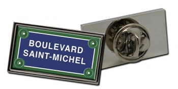 Boulevard Saint-Michel Rectangle Pin Badge