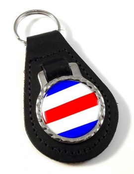Charlie Affirmative Distress Flag Leather Keyfob