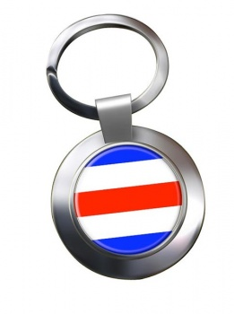 Charlie Affirmative Distress Flag Chrome Key Ring