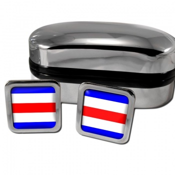 Charlie Affirmative Distress Flag Square Cufflinks