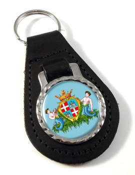 Cagliari (Italy) Leather Key Fob