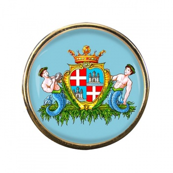 Cagliari (Italy) Round Pin Badge