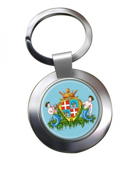 Cagliari (Italy) Metal Key Ring