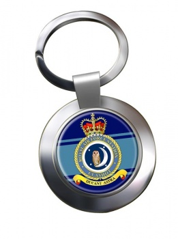 RAF Station Calshot Chrome Key Ring