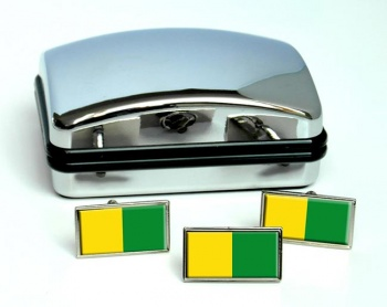 Caldas (Colombia) Flag Cufflink and Tie Pin Set