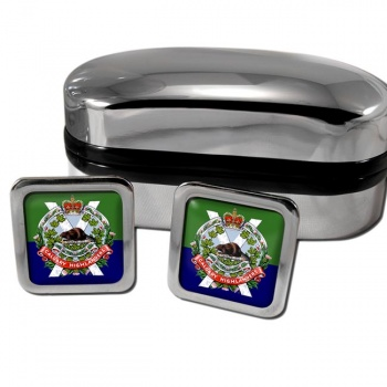Calgary Highlanders (Canadian Army) Square Cufflinks