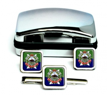 Calgary Highlanders (Canadian Army) Square Cufflink and Tie Clip Set