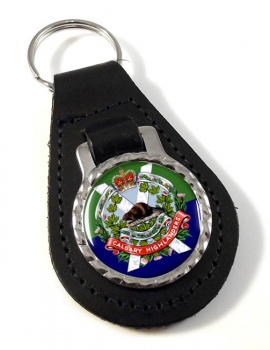 Calgary Highlanders (Canadian Army) Leather Key Fob