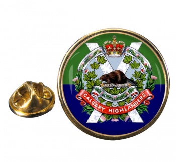 Calgary Highlanders (Canadian Army) Round Pin Badge
