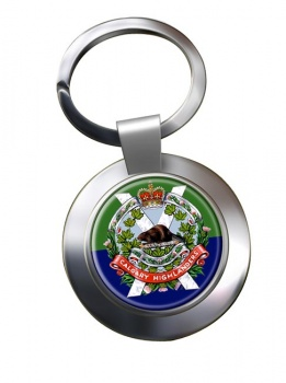 Calgary Highlanders (Canadian Army) Chrome Key Ring