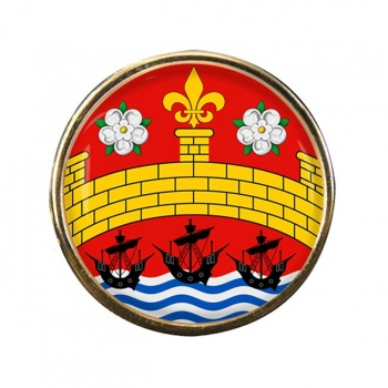 Cambridge (England) Round Pin Badge